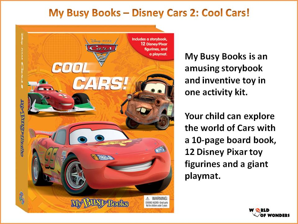 World Of Wonders My Busy Books Titles Available - Cars 2 cool cars book