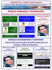 CUADERNOS DE COMUNICACIONES Y LIBROS DE OFRECIMIENTOS PERSONALIZADOS