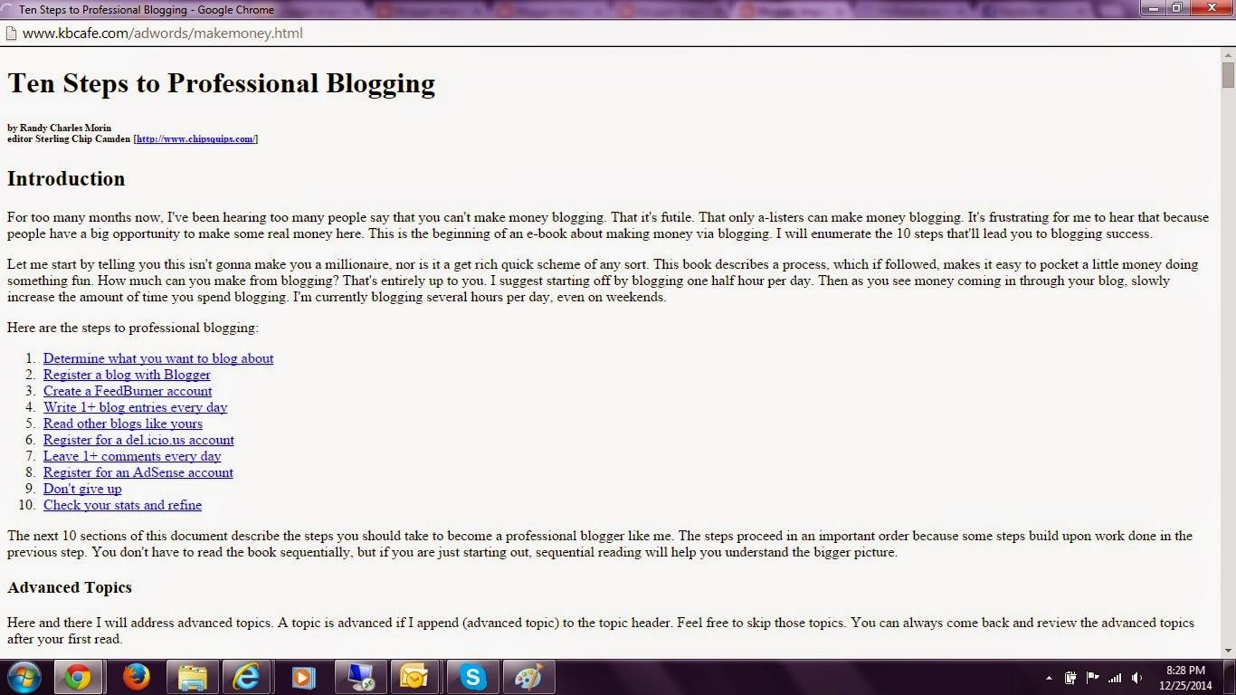 Professional Blogging Tips