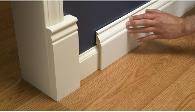 Install Wide Baseboard Molding Over Existing Narrow Molding