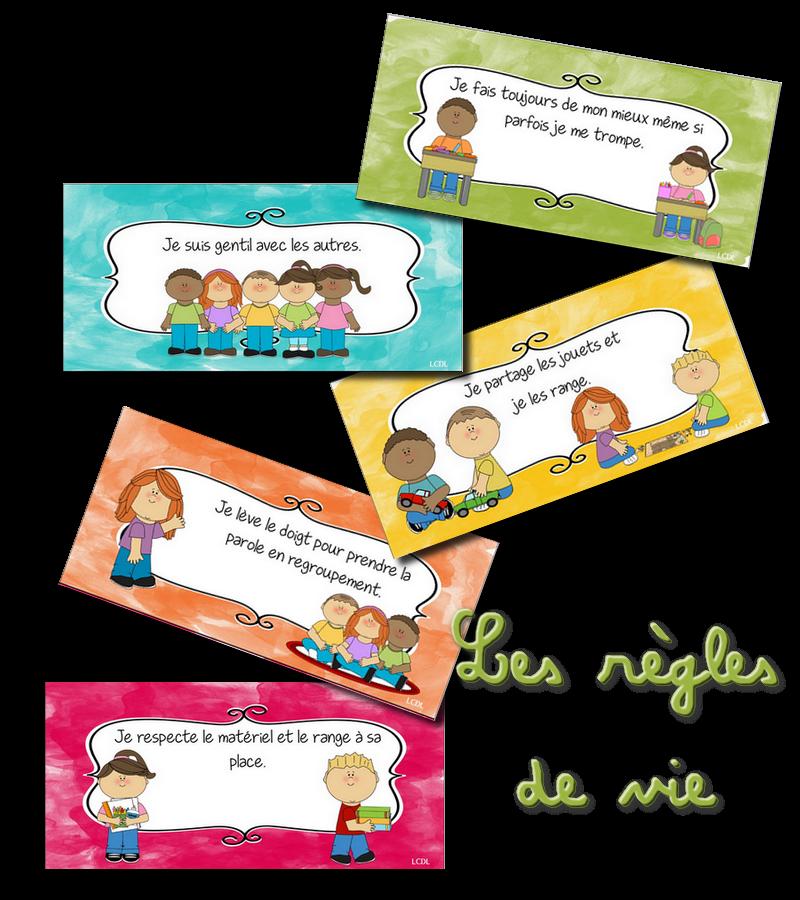 Häufig La maternelle de Laurène: règles de vie illustrées JT57