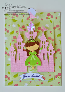 disney princess castle invitations