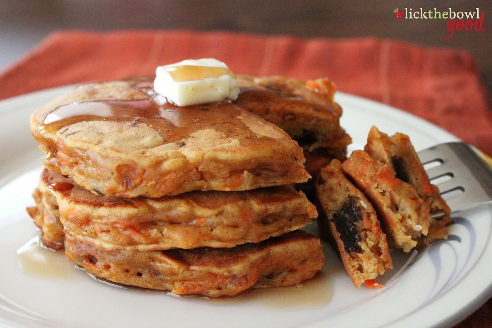 Carrot Cake Pancakes adapted from Picky Cook