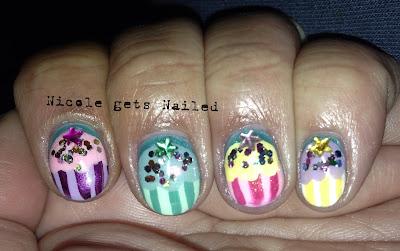 Pastel Cupcake Nails