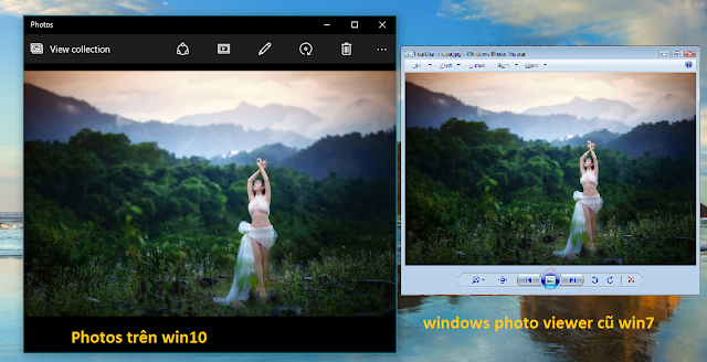 Dùng Windows Photo Viewer cũ của win7 thay cho Photos trên win10