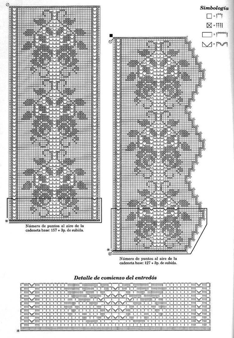 филейное вязание схемы животные