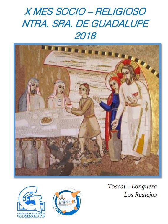 Programa del X Mes Socio- Religioso Ntra. Sra. de Guadalupe. Toscal-Longuera. Los Realejos