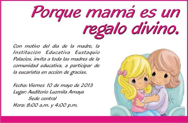 Pregon Eustaquiano Invitación A Todas Las Madres De La Institución