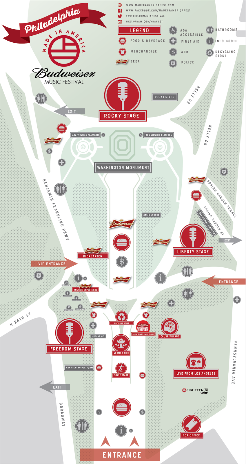 Made In American Festival Map