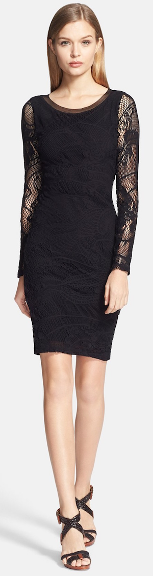 Jean Paul Gaultier Tattoo Lace Fitted Dress