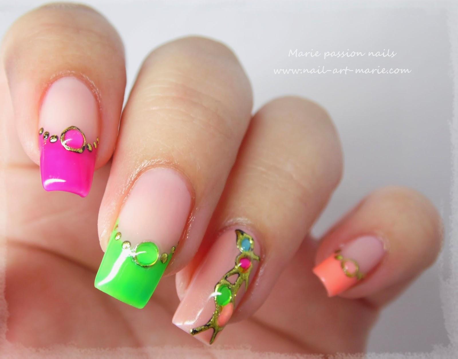 nail art fluo6