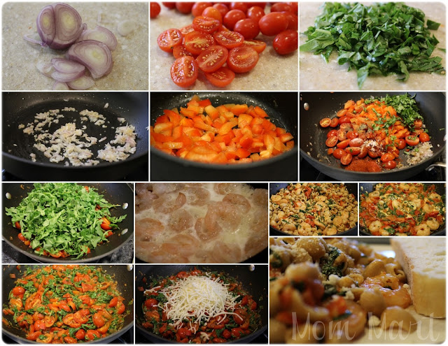 Picture Tutorial for Spicy Arugula Pasta Recipe