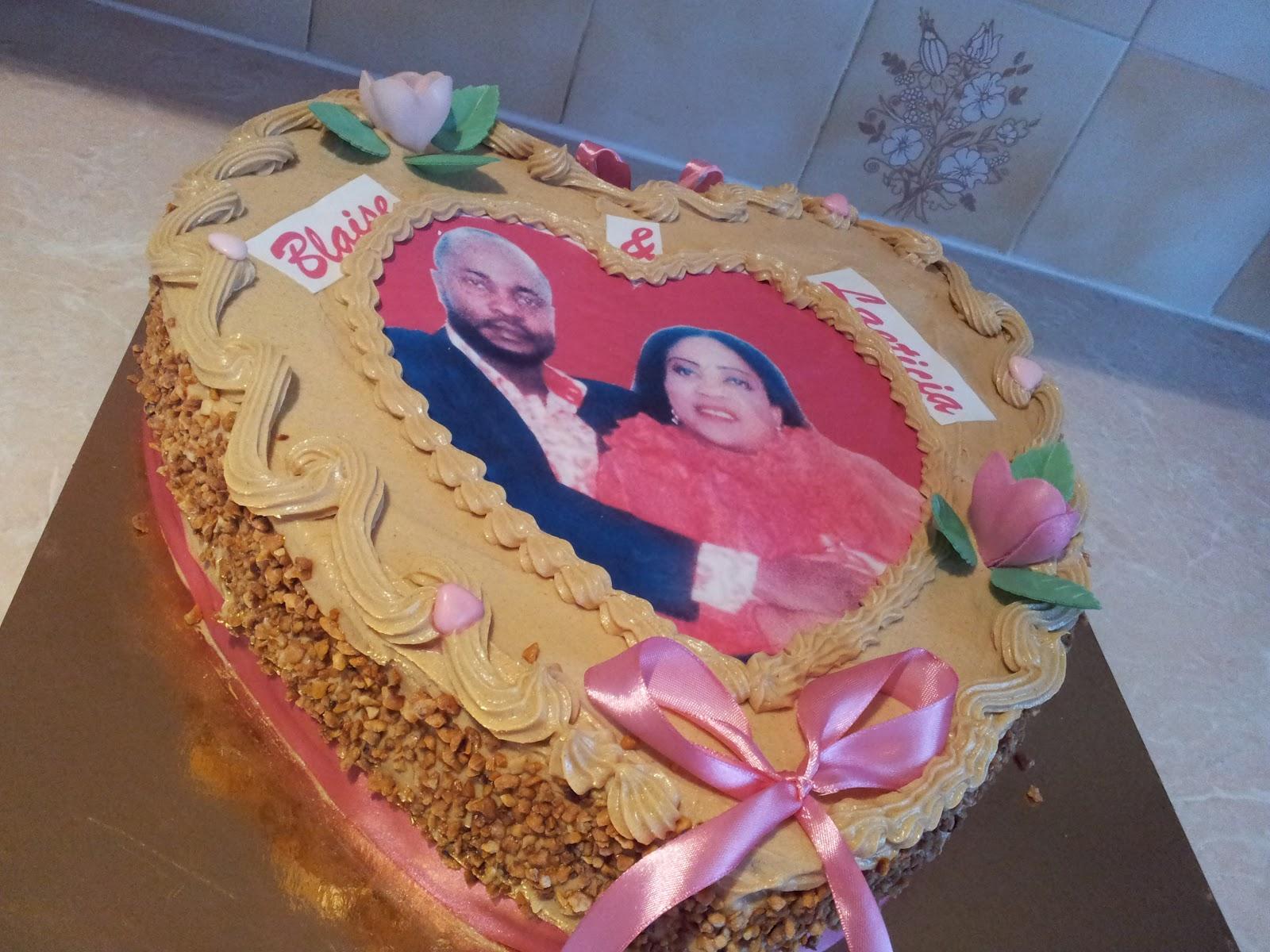 La Pâtisserie de Brunette: Gâteau de mariage forme coeur