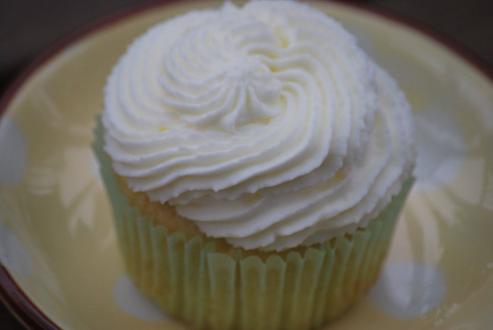 cupcake with lemon curd filling and lemon whipped cream frosting ...