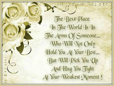 The best place in the world is in the arms of someone...