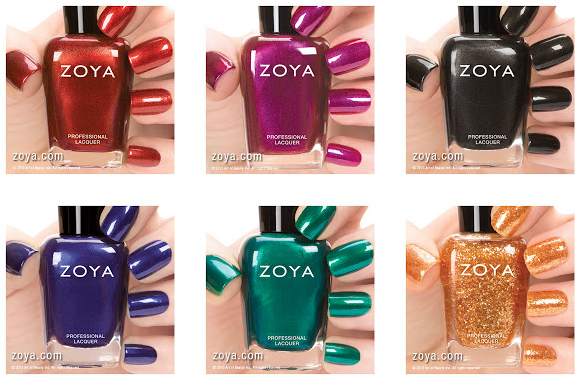 Chalkboard Nails News: Zoya Cashmeres and Satins for Fall 2013