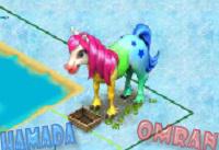 كود الحصان الملون