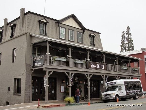 exterior of Hotel Sutter in Sutter Creek, California