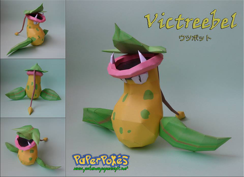 Pokemon Victreebel Papercraft
