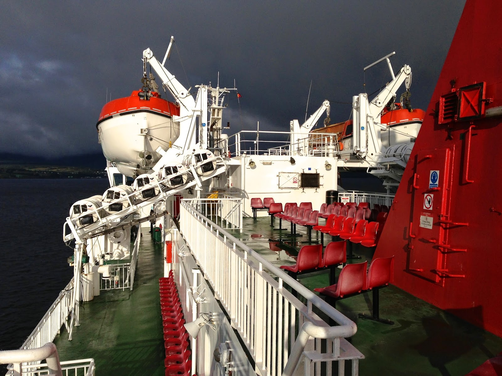 Top level of the CalMac ferry boat