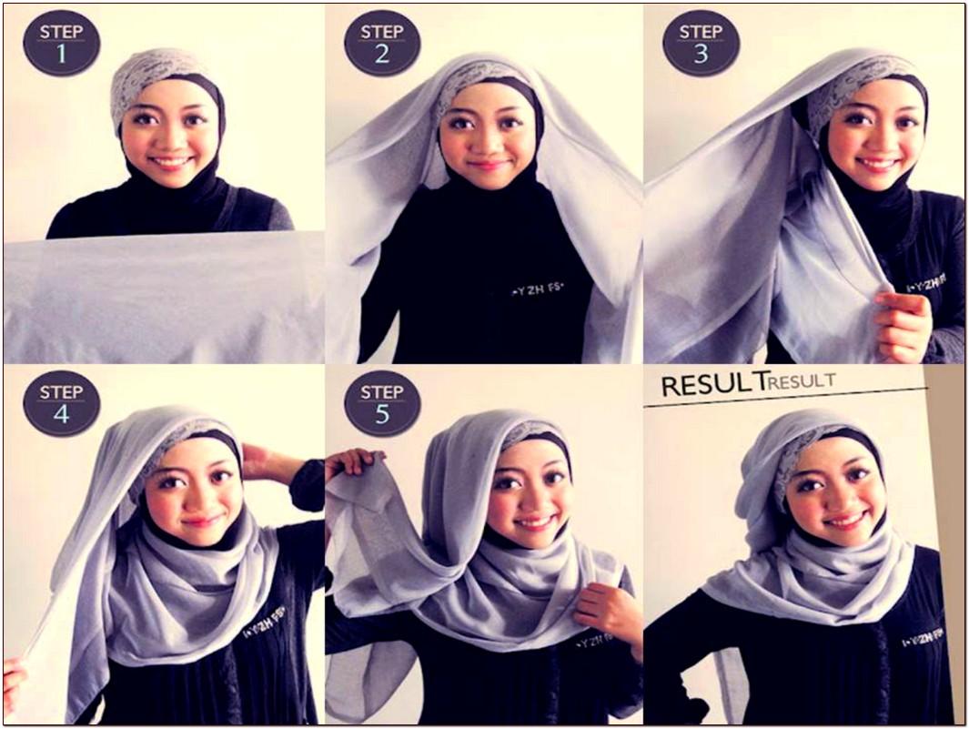 Tutorial Hijab Paris Segi Empat Modern Tutorial Hijab Dan Cara