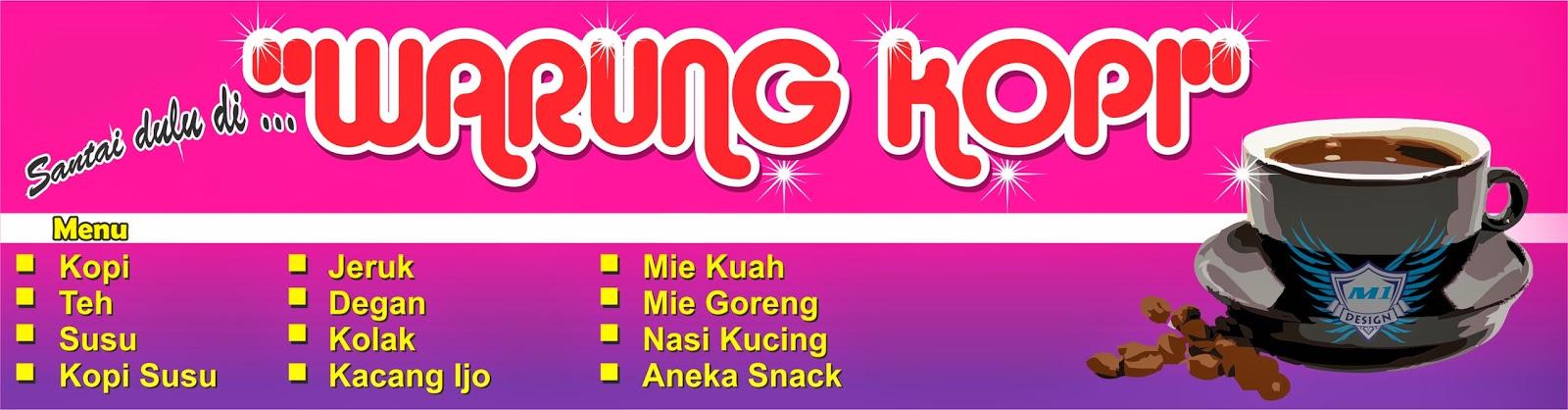 Free Design Banner Warung Kopi Cdr