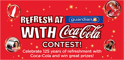 Refresh Yourself At Guardian With CocaCola Contest