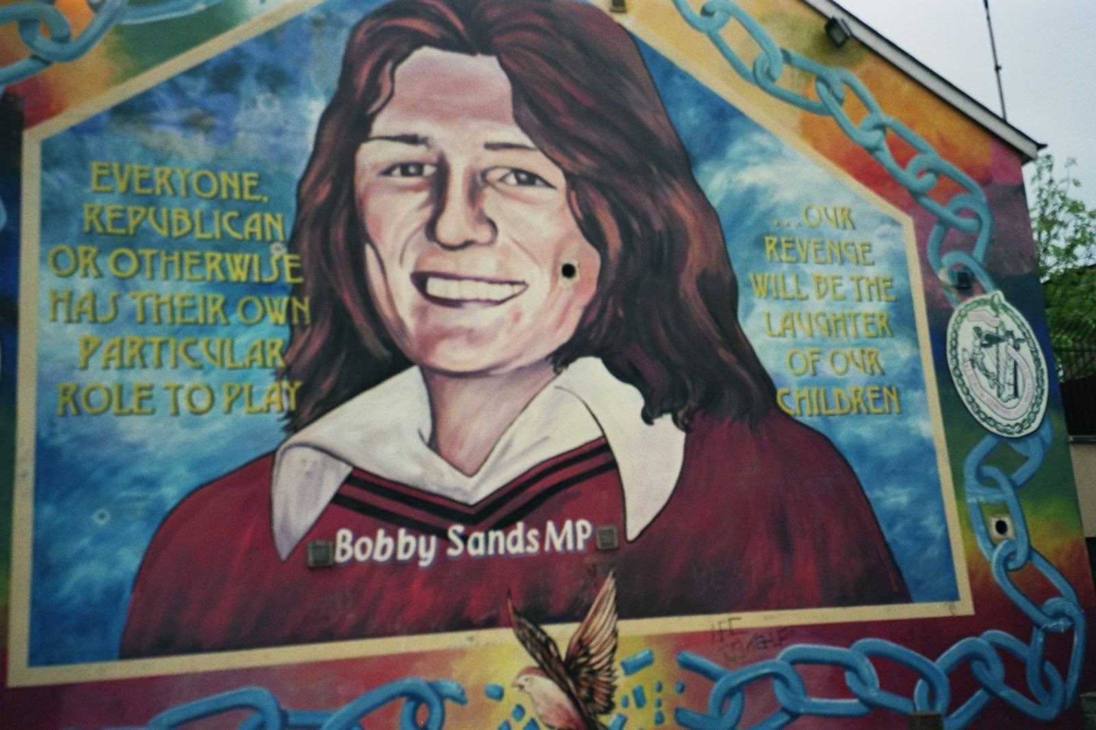 Fascinatedbyirishhistory mural bobby sands falls road for Bobby sands mural falls road