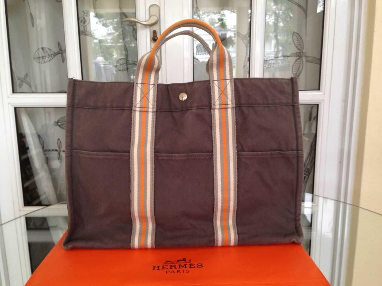 Truly Vintage  Authentic Hermes Fourre Tout MM Ginza Limited Edition ... e9df26a3ab