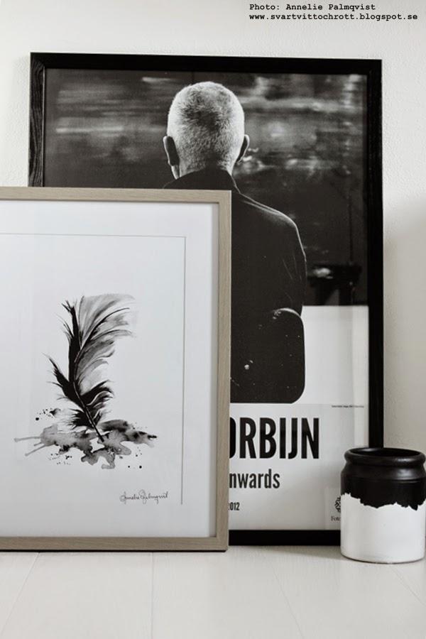konsttryck, konsttrycken, artprint, artprints, print, prints, poster, posters, tavla, tavlor, svart och vitt, svartvita motiv, tavlan, konst, feather, svart fjäder, annelie palmqvist, diy, normann copenhagen, anton corbijn