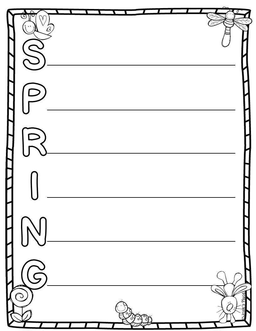 Spring Acrostic Poems For Kids Hopping from k to 2!: spring !