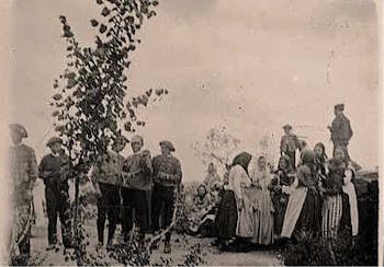Tipos humanos en el Teso San Cristóbal, VILLARINO, mayo 1902