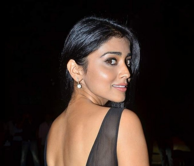 Shriya Saran - Shriya Saran Hot in Black Backless Dress
