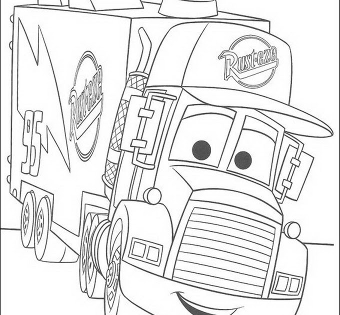 Cartoon Design Rust Eze Cars Coloring Pages