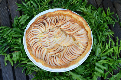 apple pie tart cake easy recipe  figs & rosemary blogspot