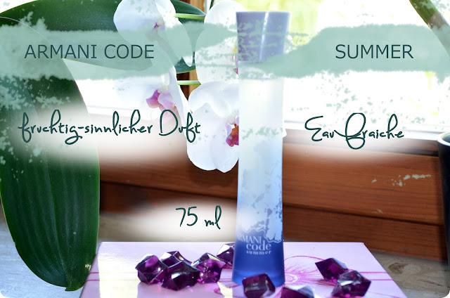 Meine Top 3 Sommerdüfte - Armani Code Summer