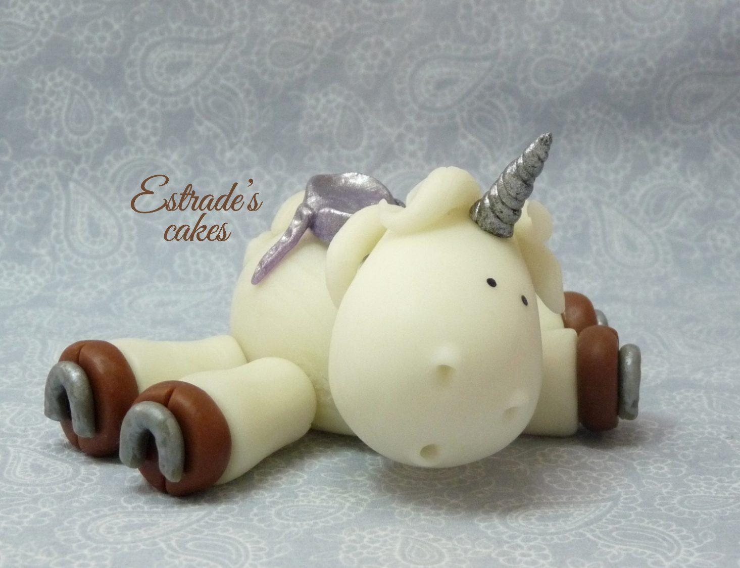unicornio modelado en porcelana fría - 1