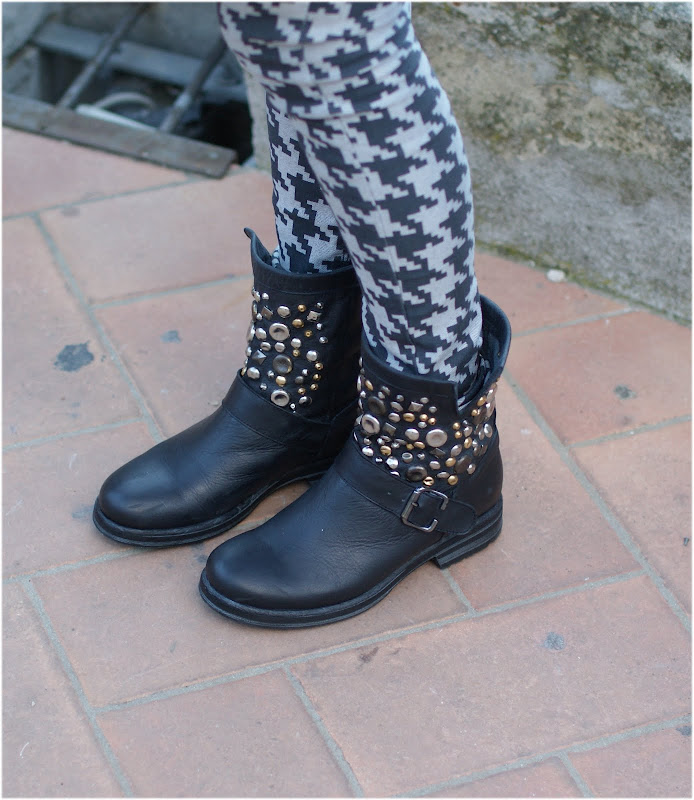 BH Shoes studded biker boots