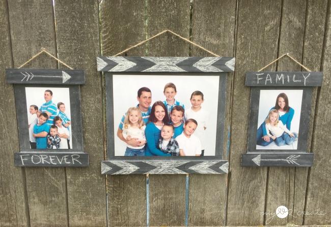 DIY Chalkboard frames