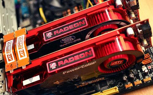 AMD Radeon CrossfireX dipasang pada slot PCl Express x16 3.0