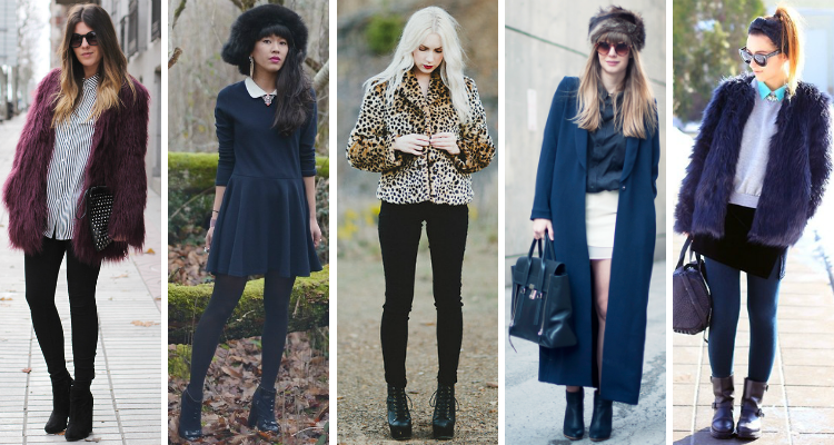 Fashion bloggers in faux fur trend