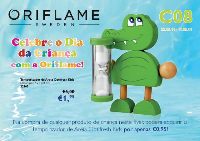 Flyer do Catálogo 08 de 2014 da Oriflame