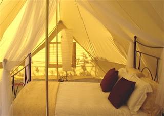 Glamping, Camping