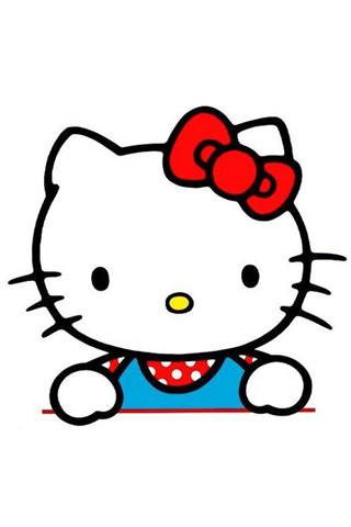 Kello Kitty iPhone Wallpaper (White Background) | Wallpapers for PC ...