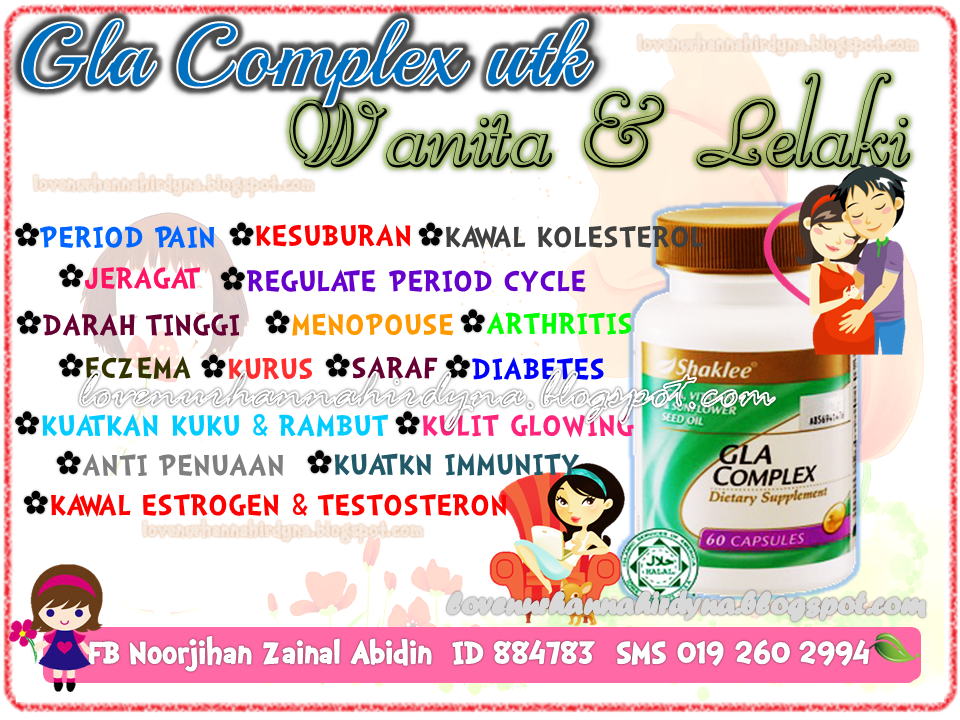 atasi period pain dgn gla complex shaklee