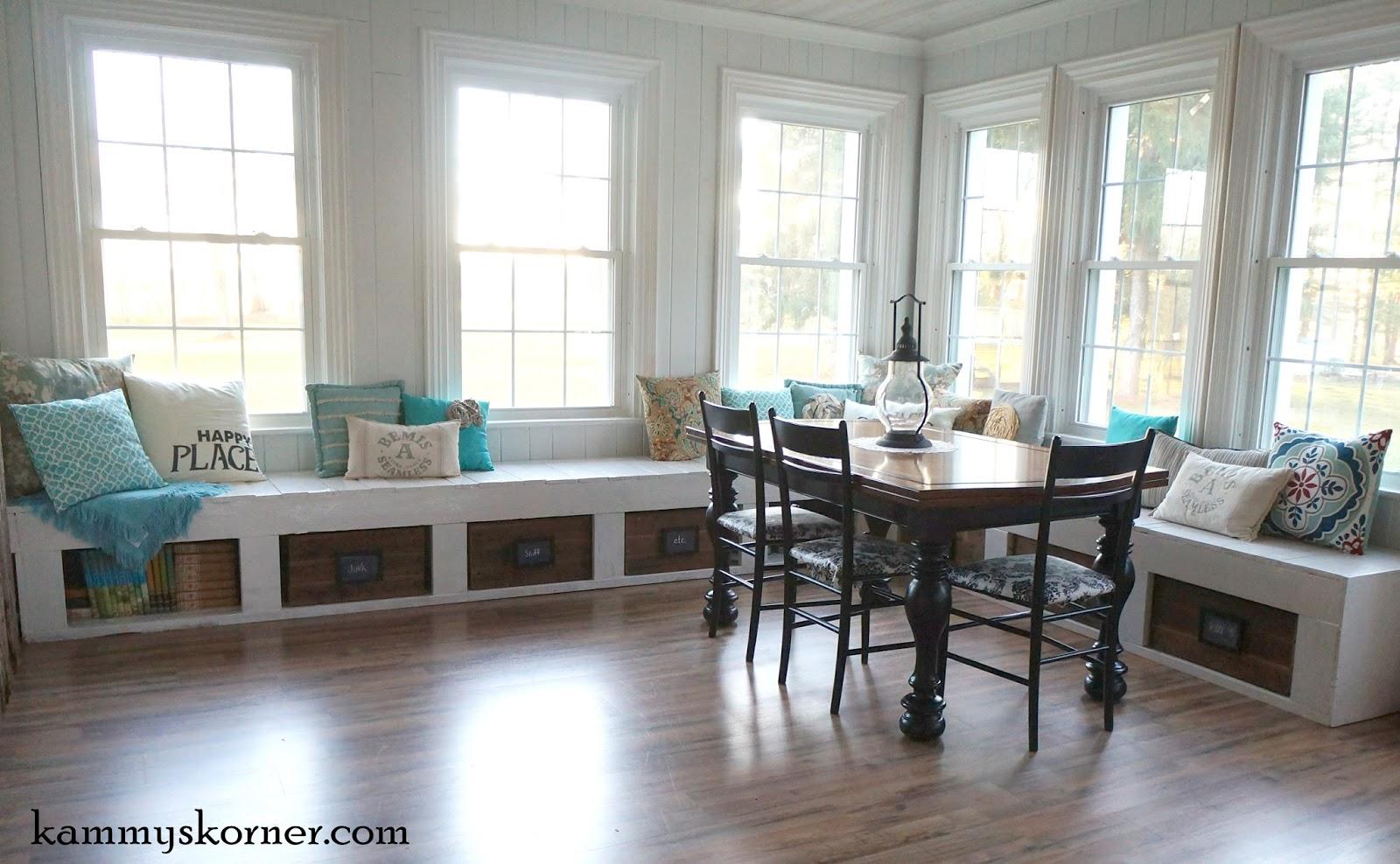 Windowseats kammy's korner: one of a kind window seats from a planked wood walkway