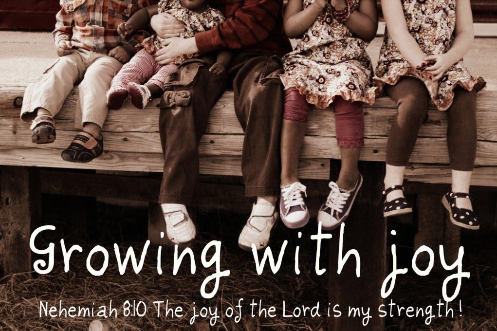 Growing with joy!