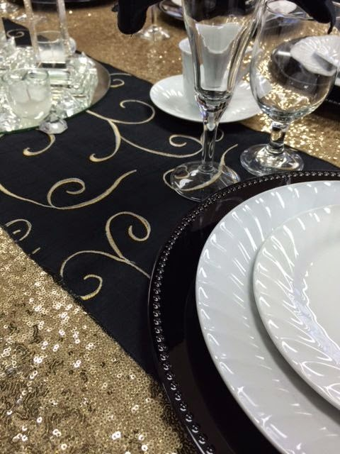 Gold And Black Table Inspiration