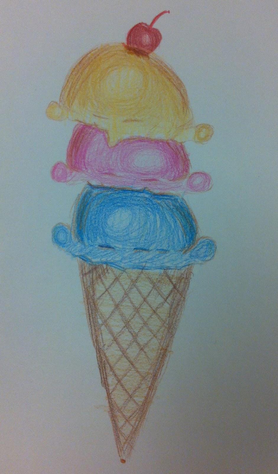 Angela Anderson Art Blog Ice Cream Colored Pencil Drawings Kid S