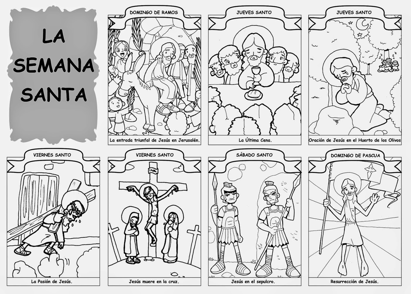 Blog Católico Gotitas Espirituales ®: SEMANA SANTA PARA COLOREAR